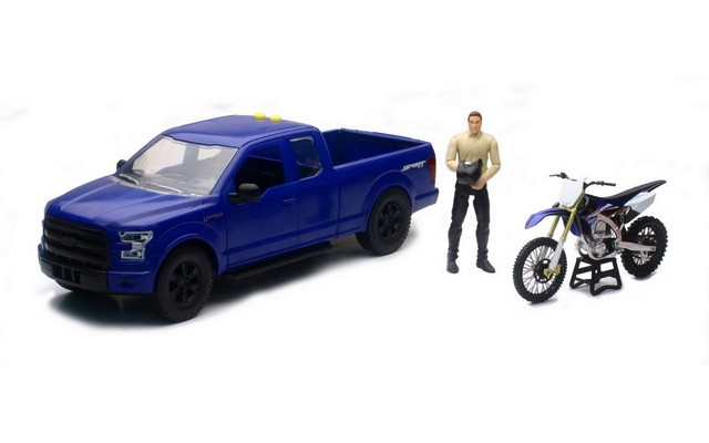 New-Ray 1/14 Ford F-150 with Motorcycle