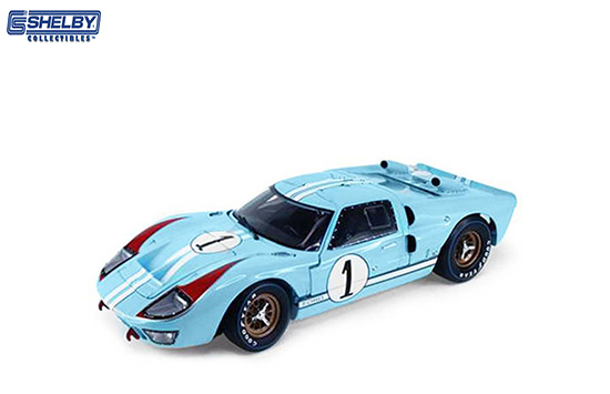 Shelby 1/18 Ford Gt 40 Mk II no1 1966 Gulf Blue/White