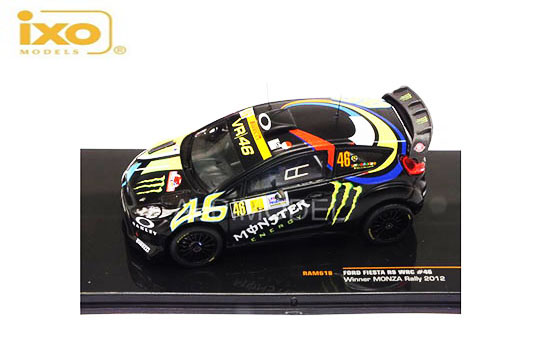 IXO 1/43 2012 Ford Fiesta RS no46 Winner Monza Rally 2012 Rossi/