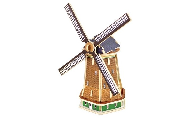 Robotime 3D Wooden Puzzle Holland windmill