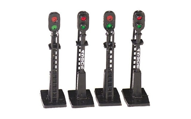 Bachman HO Block Signals (4 pieces)