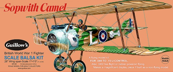 Guillow's 801 Sopwith Camel