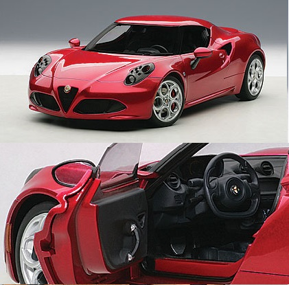 AutoArt 1/18 Alfa Romeo 4C Competition Red
