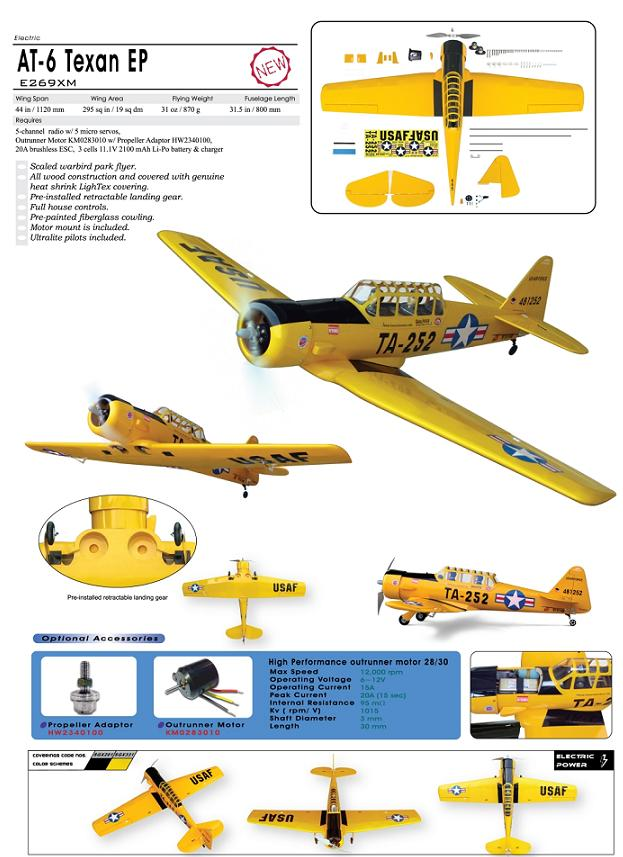 World Models AT-6 Texan EP W/O Motor