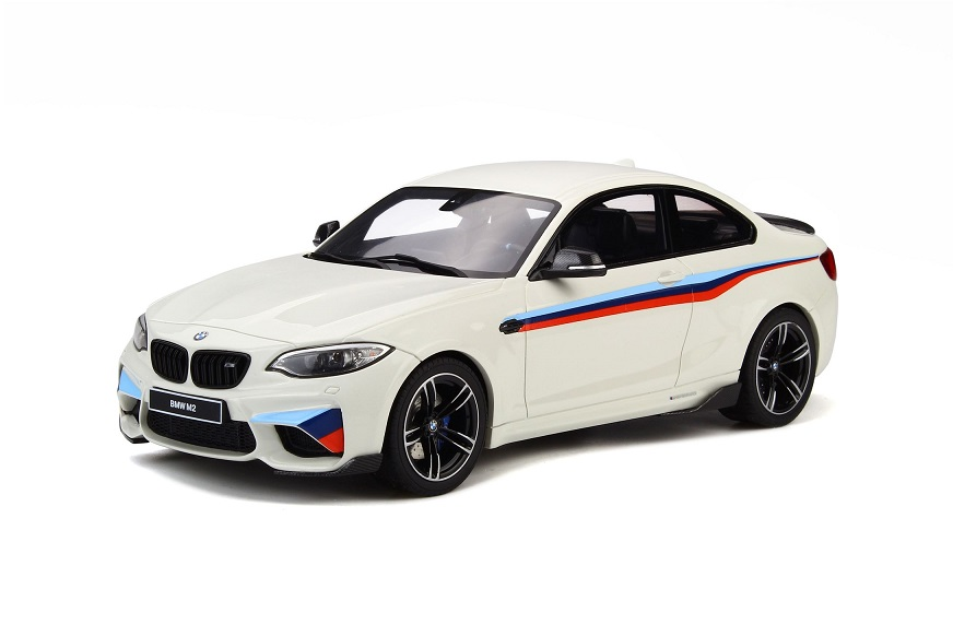 GT Spirit 1/18 BMW M2 White with stripes