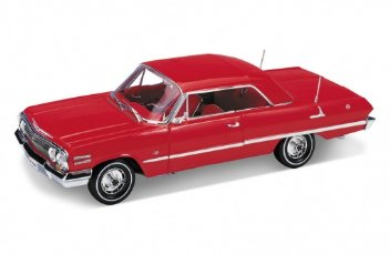 Welly 1/18 CHEV Impala 1963 Red Hard Top