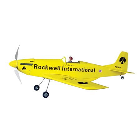 World Models  P-51 Mustang - EP  (Yellow)(Brushed Motor) ARTF
