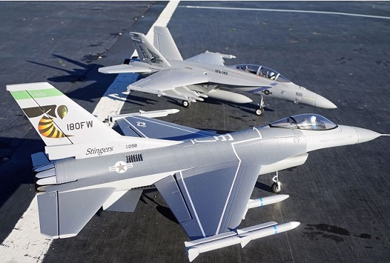 FMS F-16C Fighting Falcon PNP, 70mm Fan