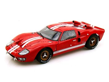 Shelby 1/18 Ford GT40 MKII 1966 Red- White