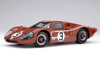 Shelby 1/18 Ford MKIV 1967 Brick Red-Wht