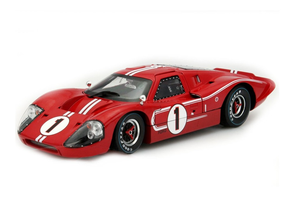 Shelby 1/18 Ford MKIV 1967 Red-Wht