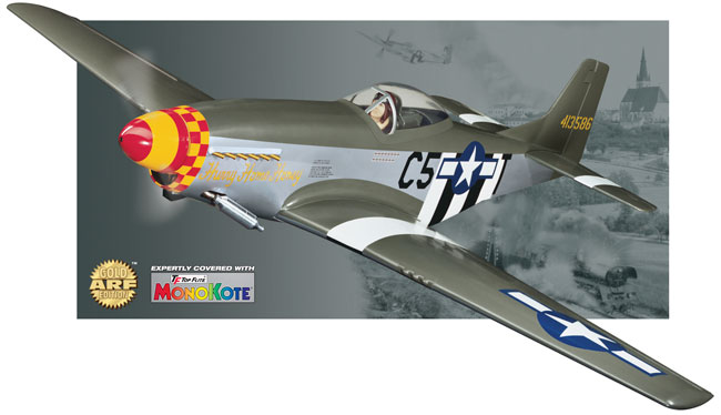 top flite p51d mustang gold edition kit