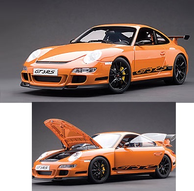 AutoArt 1/12 Porsche 997 GT3 RS (Orange W/ BLACK STRIPES)