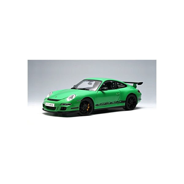 AutoArt 1/12 Porsche 997 GT3 RS (GREEN W/ BLACK STRIPES)
