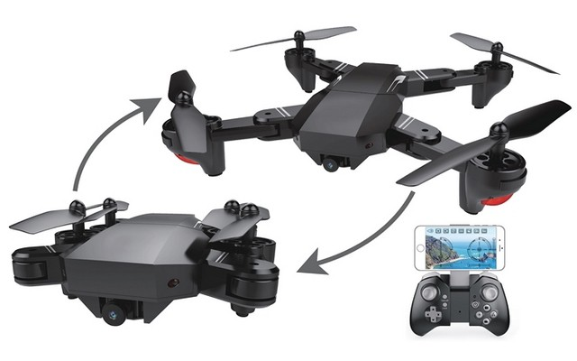 RC Leading RC122 Folding Drone with Wide Angle 720p FPV WiFi Cam