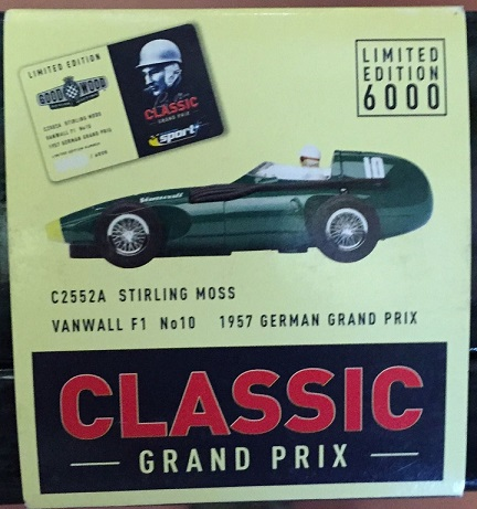 Scalextric Vanwall F1 no10 1957 C2552A Stirling Moss