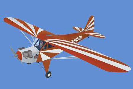 World Models CLIPPED WING  CUB 1/5 Scale (Red) 61  ARTF