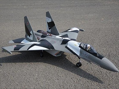 Freewing SU-35 Dual 70mm Grey Camo PNP