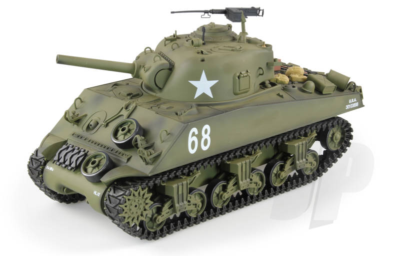 Heng Long M4A3 SHERMAN BATTLE TANK WITH RADIO, BATTERY, CHARGER