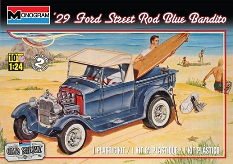 Monogram 1/24 Ford Blue Bandito Street Rod 1929
